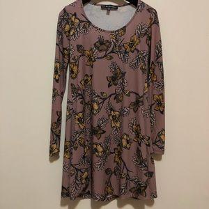 For Love and Lemons Blouse Purple Floral Dress